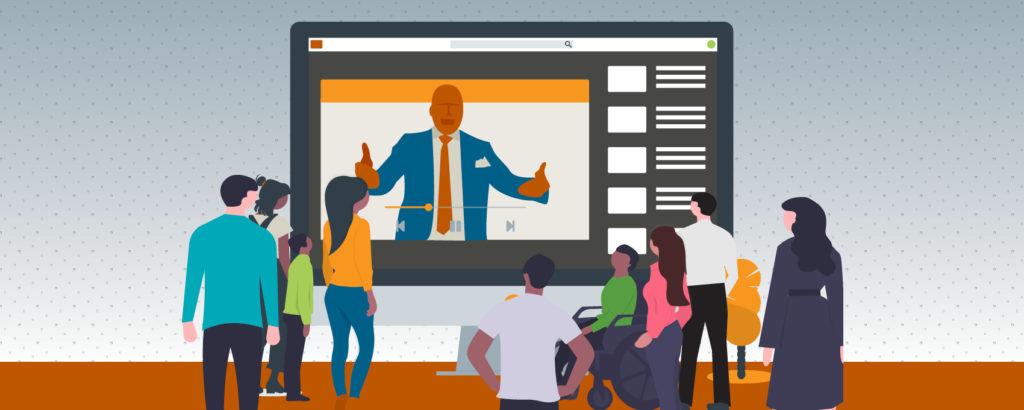 Dr. Moore teaching online webinars
